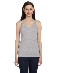 Athletic Heather Women's 2x1 Rib Racerback Longer Length Tank