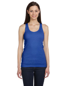 True Royal Women's 2x1 Rib Racerback Longer Length Tank