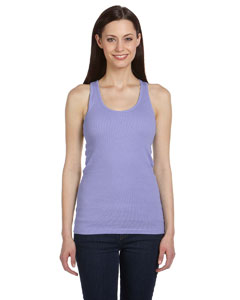 Violet Women's 2x1 Rib Racerback Longer Length Tank