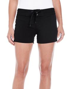 Black Ladies' Dobby Stretch Board Short