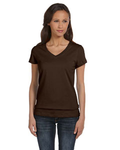 Chocolate Women's Jersey Short-Sleeve V-Neck T-Shirt