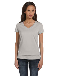 Athletic Heather Women's Jersey Short-Sleeve V-Neck T-Shirt