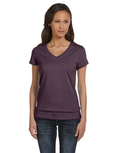 Plum Women's Jersey Short-Sleeve V-Neck T-Shirt
