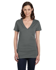 Asphalt Women's Jersey Short-Sleeve Deep V-Neck T-Shirt
