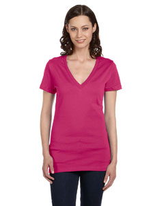 Berry Women's Jersey Short-Sleeve Deep V-Neck T-Shirt