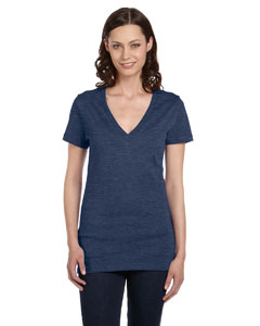 True Royal Women's Jersey Short-Sleeve Deep V-Neck T-Shirt