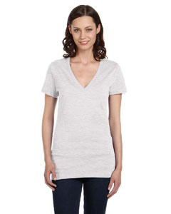 Ash Women's Jersey Short-Sleeve Deep V-Neck T-Shirt