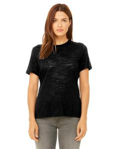Solid Black Slub Missy Jersey Short-Sleeve T-Shirt