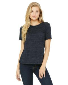 Navy Slub Missy Jersey Short-Sleeve T-Shirt
