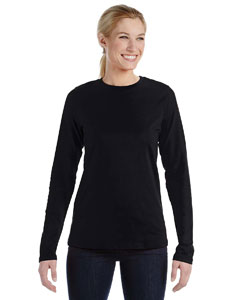 Black Ladies' Relaxed Jersey Long-Sleeve T-Shirt