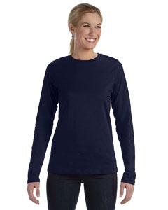 Navy Missy Jersey Long-Sleeve T-Shirt