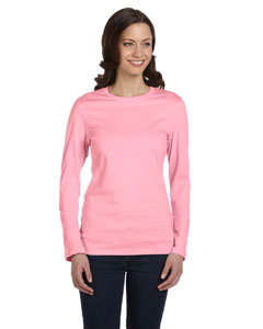 Pink Women's Jersey Long-Sleeve T-Shirt