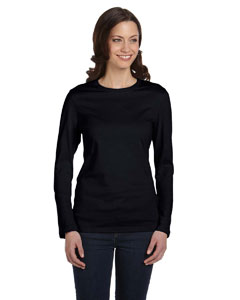 Black Women's Jersey Long-Sleeve T-Shirt