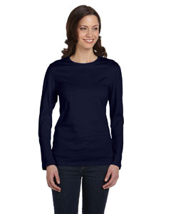 Navy Ladies' Jersey Long-Sleeve T-Shirt