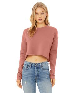 Mauve Ladies' Cropped Fleece Crew