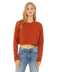 Brick Ladies' Cropped Fleece Crew