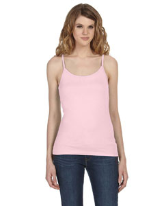 Soft Pink Women's Sheer Jersey Tank
