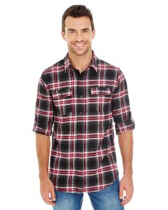 Red Men's Plaid Flannel Shirt