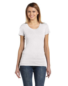White Fleck Tribld Ladies' Triblend Short-Sleeve T-Shirt