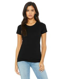 Solid Blk Trblnd Ladies' Triblend Short-Sleeve T-Shirt