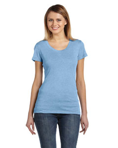 Ath Blue Trblnd New Ladies' Triblend Short-Sleeve T-Shirt