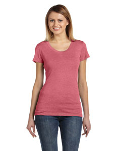 Lt Red Trblnd New Ladies' Triblend Short-Sleeve T-Shirt
