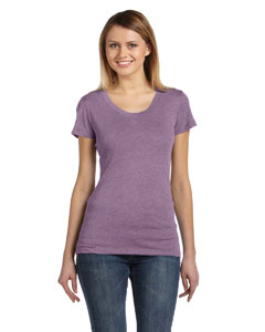 Purple Triblend Ladies' Triblend Short-Sleeve T-Shirt