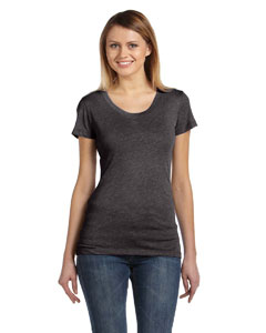 Charcoal Triblend Ladies' Triblend Short-Sleeve T-Shirt