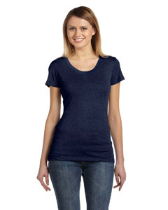 Navy Triblend Ladies' Triblend Short-Sleeve T-Shirt