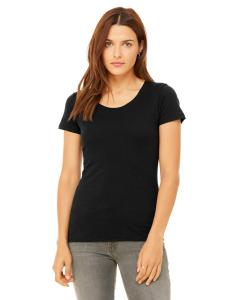 Blk Hthr Triblnd Ladies' Triblend Short-Sleeve T-Shirt