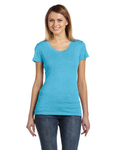 Aqua Triblend Ladies' Triblend Short-Sleeve T-Shirt