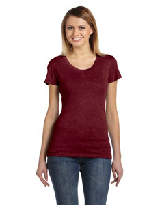 Maroon Triblend Ladies' Triblend Short-Sleeve T-Shirt