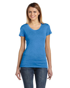 True Royal Trbln Ladies' Triblend Short-Sleeve T-Shirt