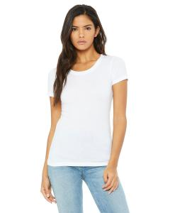 Solid Wht Trblnd Ladies' Triblend Short-Sleeve T-Shirt