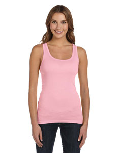 Pink Women's Sheer Mini Rib Tank