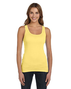 Yellow Women's Sheer Mini Rib Tank