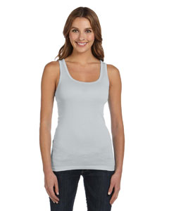 Silver Women's Sheer Mini Rib Tank