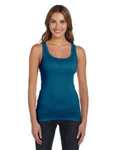 Deep Teal Women's Sheer Mini Rib Tank