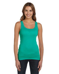 Teal Women's Sheer Mini Rib Tank