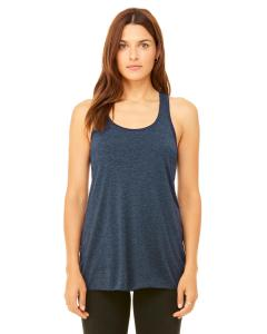Heather Navy Women's Flowy Racerback Tank