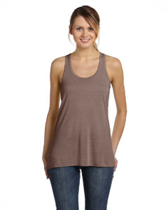 Pebble Brown Women's Flowy Racerback Tank