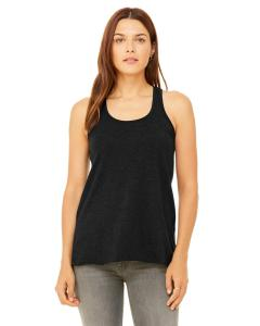 Black Heather Women's Flowy Racerback Tank