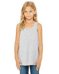 Athletic Heather Youth Flowy Racerback Tank