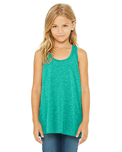 Teal Youth Flowy Racerback Tank