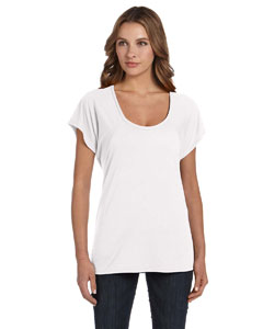 White Ladies' Flowy Raglan T-Shirt