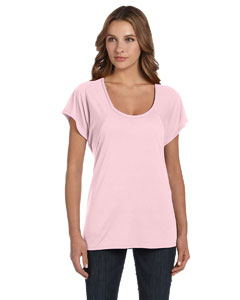 Soft Pink Ladies' Flowy Raglan T-Shirt