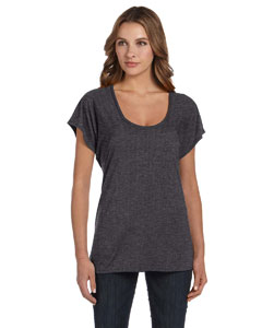 Dark Grey Heather Ladies' Flowy Raglan T-Shirt