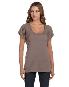 Pebble Brown Ladies' Flowy Raglan T-Shirt