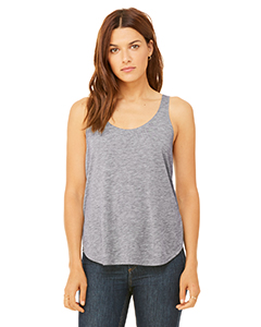 Athletic Heather Ladies Flowy Side Slit Tank