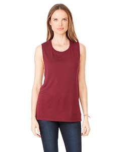 Maroon Ladies' Flowy Scoop Muscle Tank